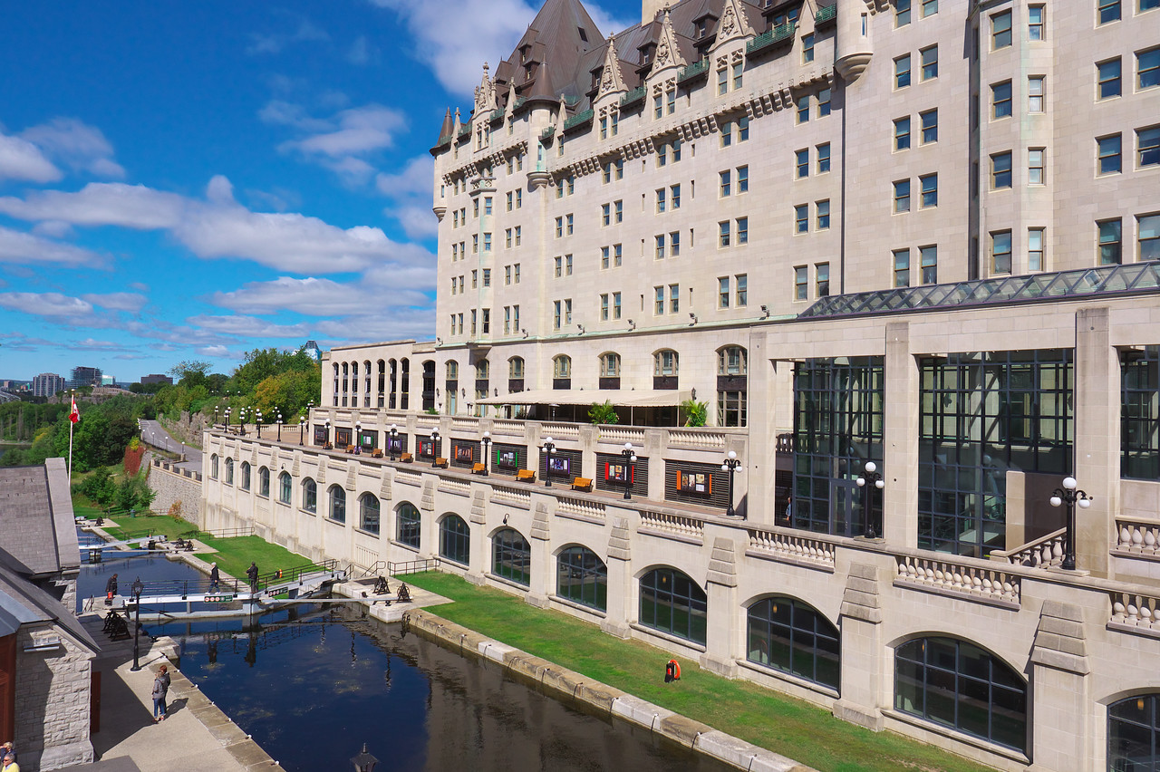 Rideau Canal and Chateau Laurier